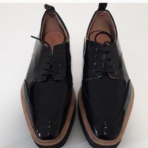Zara Patent Leather Platform Oxfords, Size 8 1/2-9